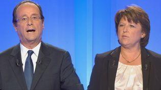 François Hollande et Martine Aubry (BFM)