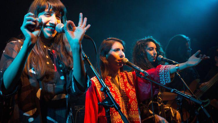 Les trois soeurs de A-WA en concert à Jérusalem (28 janvier 2016)  (Menahem Kahana / AFP)