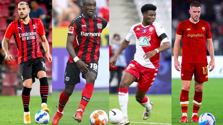 Théo Hernandez, Moussa Diaby, Aurélien Tchouaméni et Jordan Veretout sont convoqués pour la premières fois en équipe de France. (AFP)