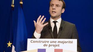 Le candidat à la présidentielle et leader du mouvement En marche, Emmanuel Macron, à Paris, le 19 janvier 2017. (ERIC FEFERBERG / AFP)