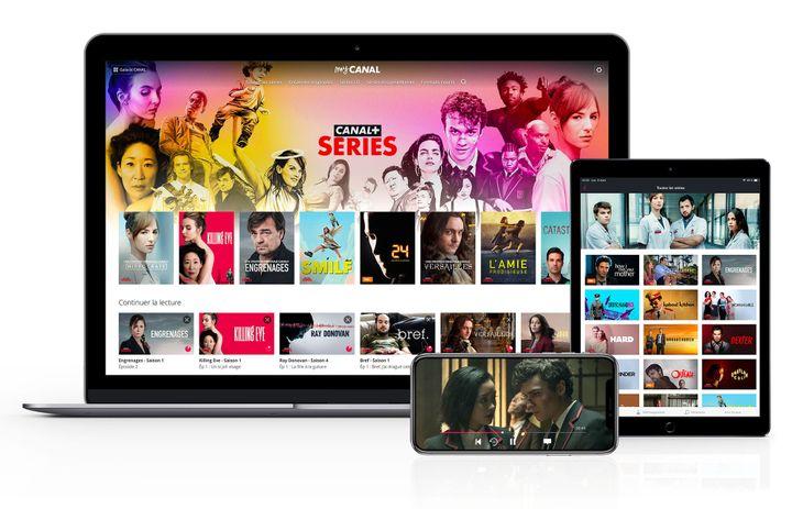 L'interface du site de SVoD Canal+ Séries présentée sur différents supports de visionnage. (CANAL+)