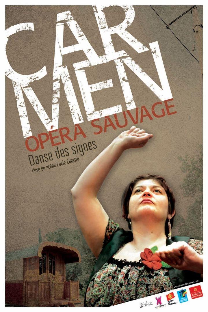 L'affiche de Carmen opéra sauvage, danse des signes  (DR)