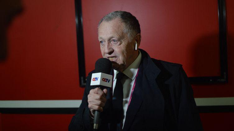 Jean Michel Aulas, le président de l'Olympique Lyonnais, à Dijon (Côte-d'Or) le 24 avril 2019. (VICTOR VASSEUR / RADIOFRANCE)