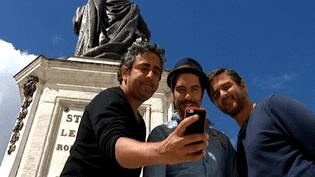 """Eric Toledano, Tahar Rahim etOlivier Nakache à Nancy pour l'avant-première de leur film """"Samba""""  (France 3 Culturebox)"""