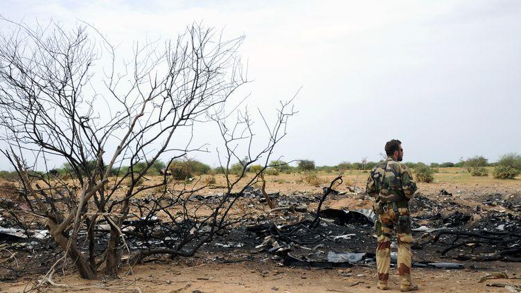 Un soldat français dans la région de Gao (Mali), le 26 juillet 2014. (SIA KAMBOU / AFP)