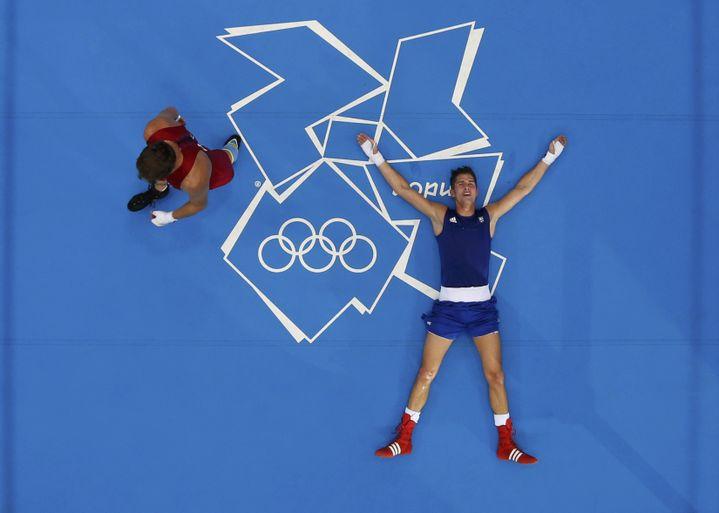 Alexis Vastine, après son élimination enquarts de finale du tournoi des moins de 69 kg, aux Jeux olympiques de Londres, le 7 août 2012. (MURAD SEZER / REUTERS)