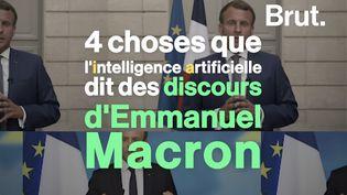 VIDEO. 4 choses que l'intelligence artificielle dit des discours d'Emmanuel Macron (BRUT)