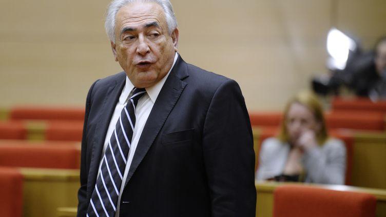 Dominique Strauss-Kahn, le 26 juin 2013 au Sénat, à Paris. (MARTIN BUREAU / AFP)