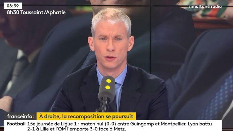 """Franck Riester, député du mouvement """"Agir, la droite constructive"""", invité de franceinfo jeudi 30 novembre 2017. (RADIO FRANCE)"""