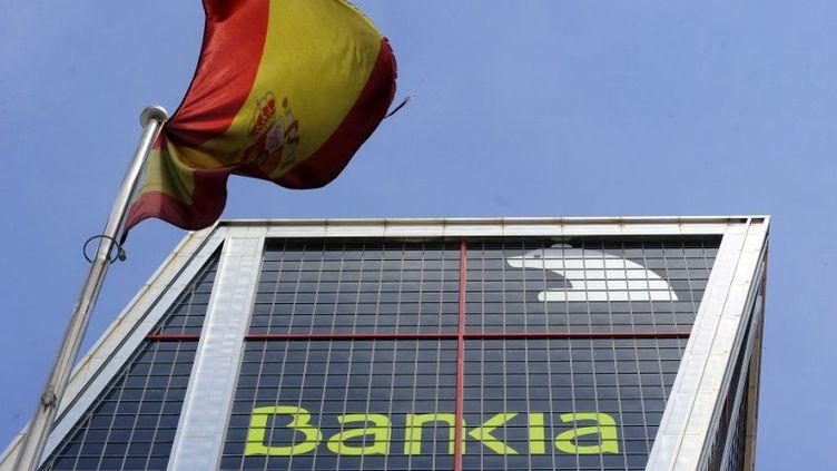 Le siège de Bankia, sauvée par l'Etat espagnol, le 29 mai 2012. (DOMINIQUE FAGET / AFP)