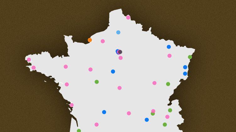 CARTE. Élections municipales 2020 : voici les 50 résultats à retenir du second tour dans les grandes villes françaises (FRANCEINFO)