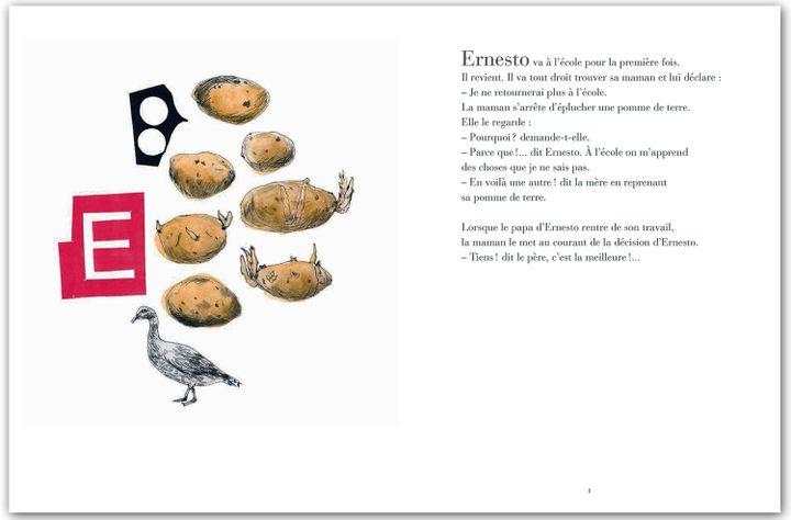 """""""Ah ! Ernesto"""" Marguerite Duras, pages intérieures  (Katy Couprie)"""