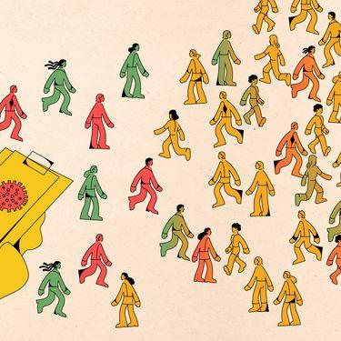 Chaque jour, 9000 enquêteurspassentdes dizaines de milliers d'appelsà des personnes positives au Covid-19 età leurs cas contacts. (JESSICA KOMGUEN / FRANCEINFO)