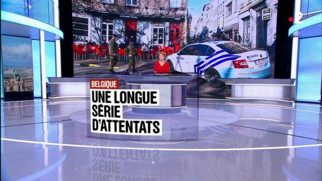 Belgique : une longue série d'attentats