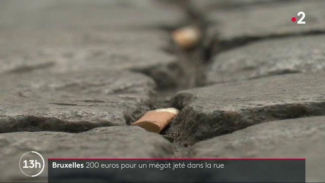Bruxelles : 200 euros pour un mégot jeté dans la rue