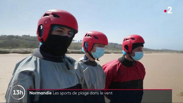 Normandie : pratique des sports de voile sur les plages du débarquement