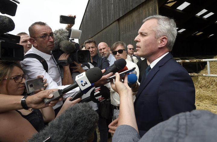 François de Rugy, en visite à Niort (Deux-Sèvres), est contraint d'écourter sa visite, le 11 juillet 2019, pour rentrer à Paris et rencontrer le Premier ministre. (MAXPPP)