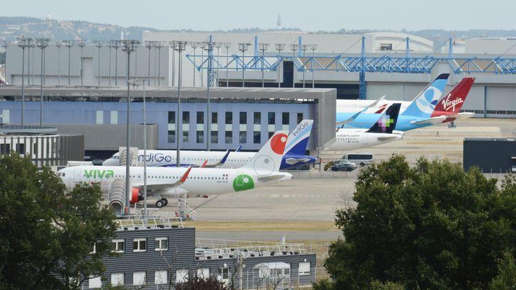 Les usines d'Airbus à Toulouse. (JEAN-LUC FLÉMAL / MAXPPP)