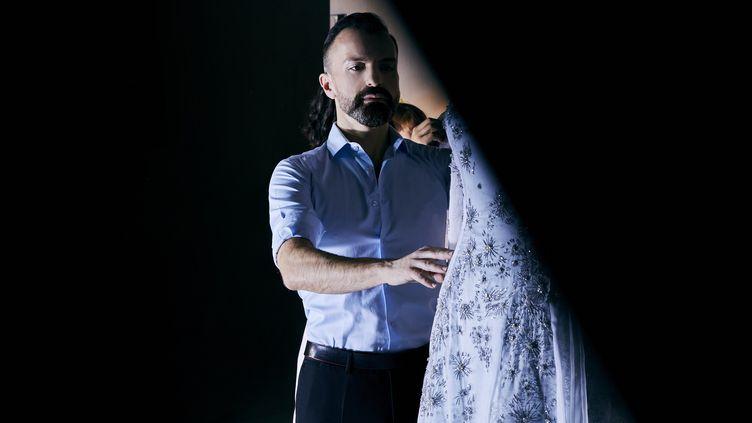 Julien Fournié haute couture printemps-été 2021, à Paris, 26 janvier 2021 (Delphine Royer)