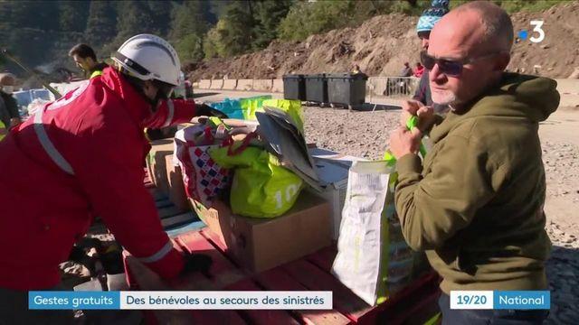 Vallée de la Roya : des bénévoles affluent pour aider les sinistrés