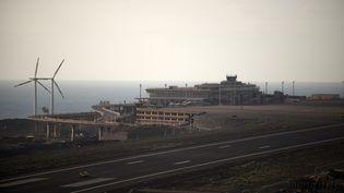 L'aéroport de La Palma,sur l'archipel des Canaries (Espagne), le 7 octobre 2021. (JORGE GUERRERO / AFP)