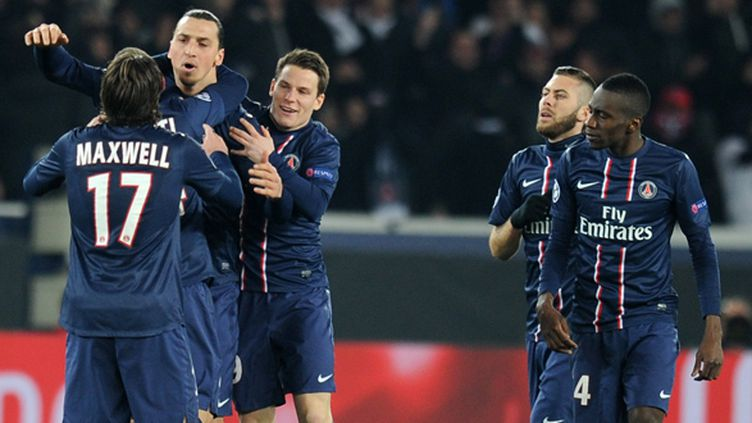 Les joueurs du PSG heureux