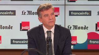 Arnaud Montebourg était l'invité de franceinfo et France Inter dimanche 26 septembre 2021. (FRANCEINFO / RADIOFRANCE)