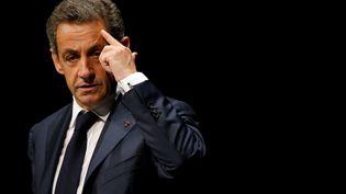 Nicolas Sarkozy en meeting aux Sables-d'Olonne (Vendée), le 1er octobre 2016. (REUTERS)