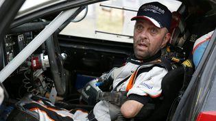 Le Français Philippe Croizon à la fin de la 12e étape du rallye Dakar 2017, à Buenos Aires en Argentine, le samedi 14 janvier 2017. (FRANCK FIFE / AFP)