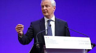 Bruno Le Maire, ministre de l'Economie, le 22 septembre 2021, à Paris. (THOMAS SAMSON / AFP)