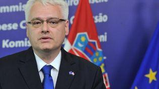 Le président croate Ivo Josipovic le 17 juin 2011 (AFP/GEORGES GOBET)