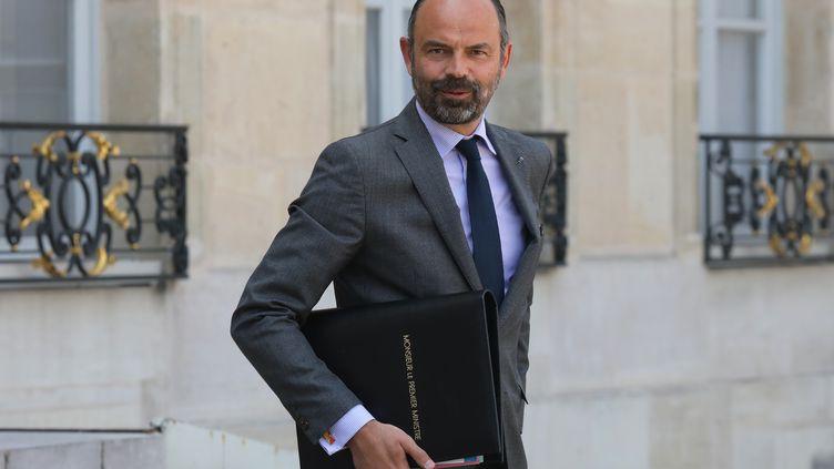 Le Premier ministre Edouard Philippe quitte l'Elysée le 30 avril 2019. (LUDOVIC MARIN / AFP)