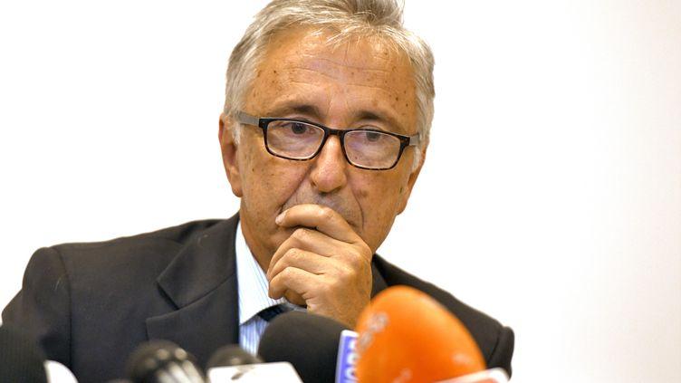 Giovanni Castellucci, le 18 août 2018 à Gênes, en Italie. (PIERO CRUCIATTI / AFP)