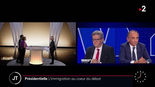 Présidentielle 2022 : l'immigration au cœur des débats Jean-Luc Mélenchon/Éric Zemmour et Valérie Pécresse/Gérald Darmanin