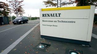 L'entrée du Technocentre Renault, àGuyancourt (Yvelines). (MEHDI FEDOUACH / AFP)