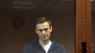 Alexeï Navalny, au tribunal de Moscou(Russie), le 12 février 2021. (HANDOUT / MOSCOW'S BABUSHKINSKY DISTRICT C / AFP)