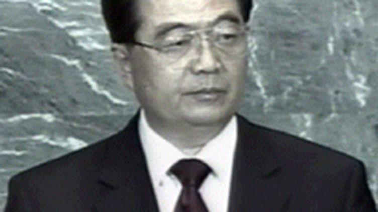 Le président chinois Hu Jintao, au sommet sur le climat, à New York, le 22 septembre 2009. (© France 3)