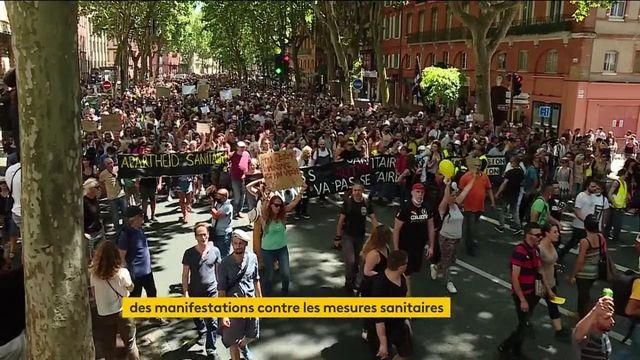 Covid-19 : des manifestations contre le pass sanitaire et l'obligation vaccinale aux quatre coins de la France
