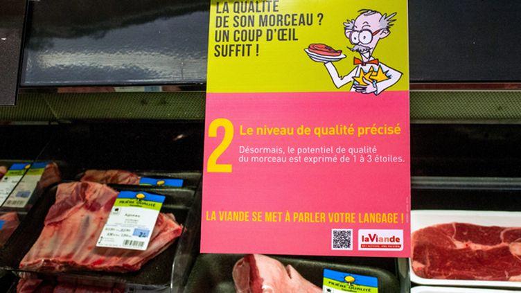 (Le nouvel étiquetage des viandes en grandes surfaces entre en vigueur ce week-end  © Maxppp)