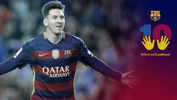 La campagne de soutien du FC Barcelone envers Leo Messi.
