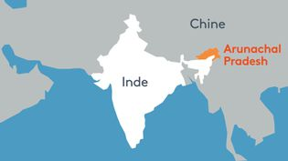 L'État de l'Arunachal Pradesh se trouve en Inde, mais à la frontière avec la Chine. (STÉPHANIE BERLU / RADIO FRANCE)