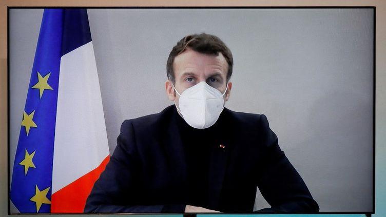 Le président de la République, Emmanuel Macron, avait été testé positif au Covid-19 jeudi 17 décembre 2020. (CHARLES PLATIAU / AFP)