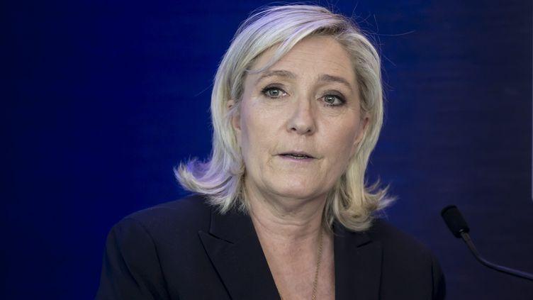La présidente du Front national Marine Le Pen, le 17 mai 2016. (MAXPPP)
