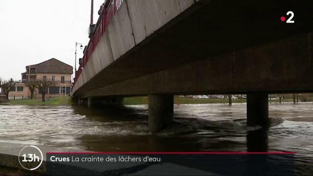 Inondations : dans le Lot, le village de Bretenoux redoute le lâcher d'eau d'un barrage