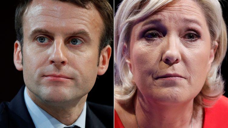 Emmanuel Macron et Marine Le Pen, les deux finalistes de la présidentielle 2017. (CHRISTIAN HARTMANN / REUTERS)