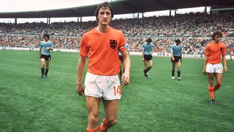 Johan Cruyff avec les Pays-Bas.  (WERNER BAUM / DPA)
