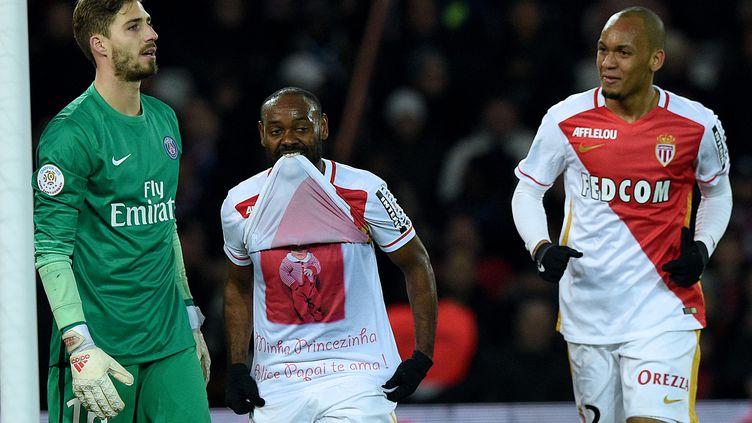 Les Brésiliens de l'AS Monaco Vagner Love et Fabinho (FRANCK FIFE / AFP)