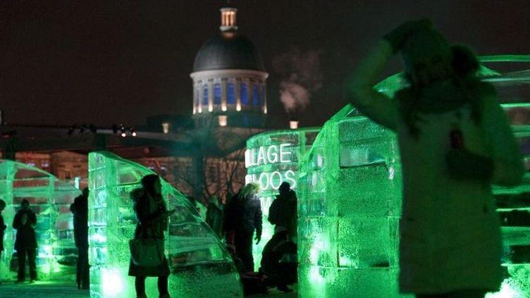 A l'entrée du festival Igloofest  (OLIVIER JEAN / AFP)