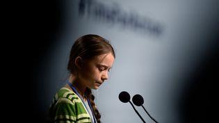 Greta Thunberg, le 11 décembre 2019, à Madrid (Espagne). (CRISTINA QUICLER / AFP)