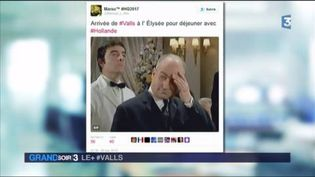 Les réseaux sociaux se moquent du déjeuner Valls/Hollande (FRANCE 3)